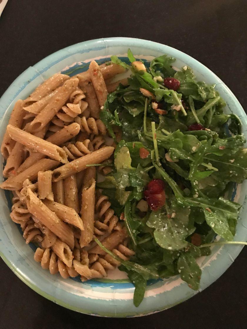 spicy pesto pasta